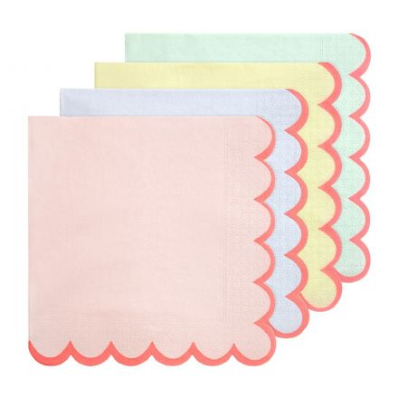 Pastel Paper Party Napkins - Large